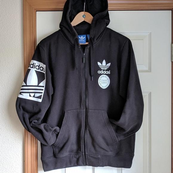 3 Streifen German Adidas trefoil hoodie large